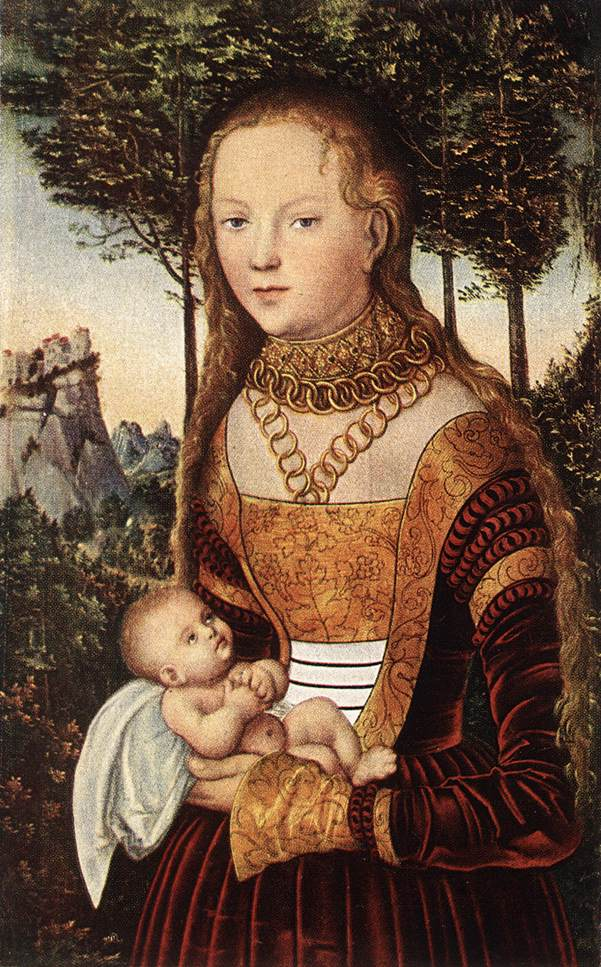 Young Mother with Child | Lucas Cranach the Elder | oil painting