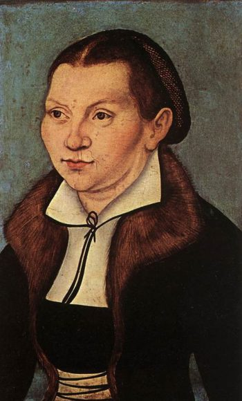 Portraits of Martin Luther and Catherine Bore 1529 | Lucas Cranach the Elder | oil painting