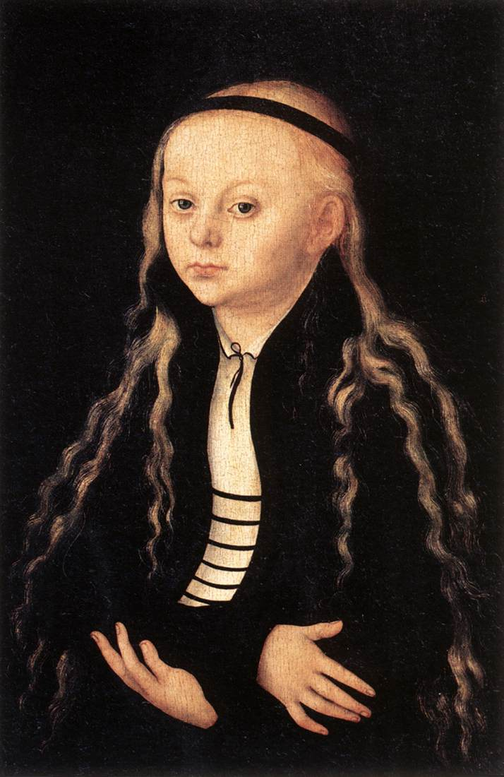 Portrait of a Young Girl 1540   Lucas Cranach the Elder   oil painting