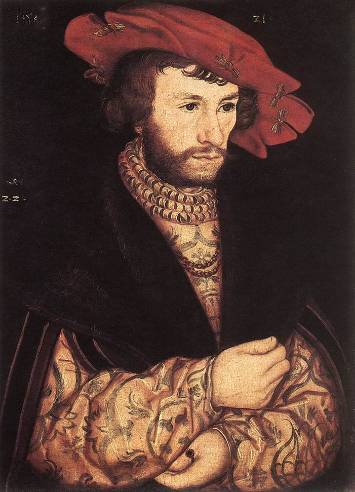 Portrait of a Young Man | Lucas Cranach the Elder | oil painting