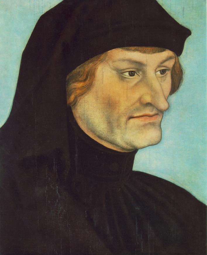 Portrait of Johannes Geiler von Kaysersberg   Lucas Cranach the Elder   oil painting