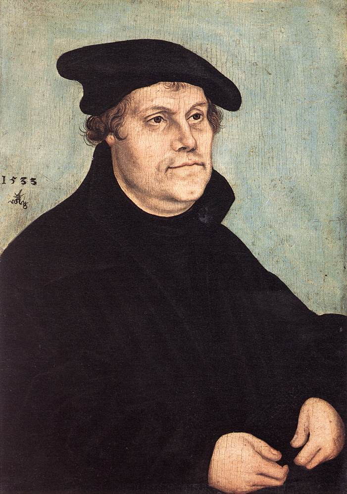 Portrait of Martin Luther 1543 | Lucas Cranach the Elder | oil painting