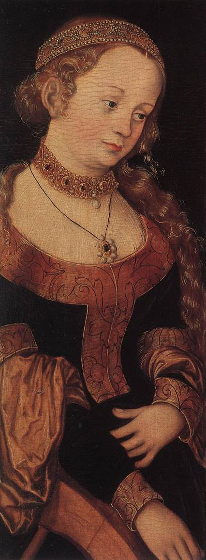 St Catherine of Alexandria and St Barbara | Lucas Cranach the Elder | oil painting