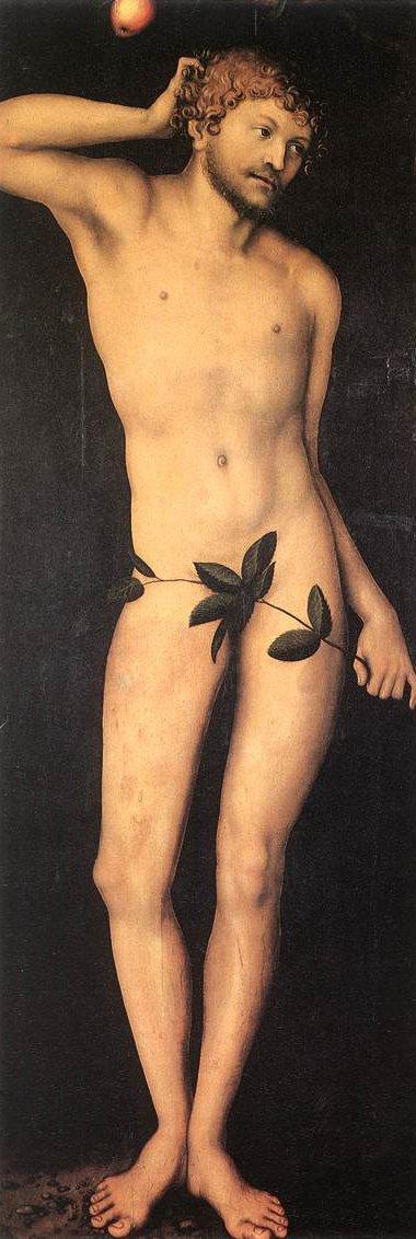 Adam and Eve 1528 | Lucas Cranach the Elder | oil painting