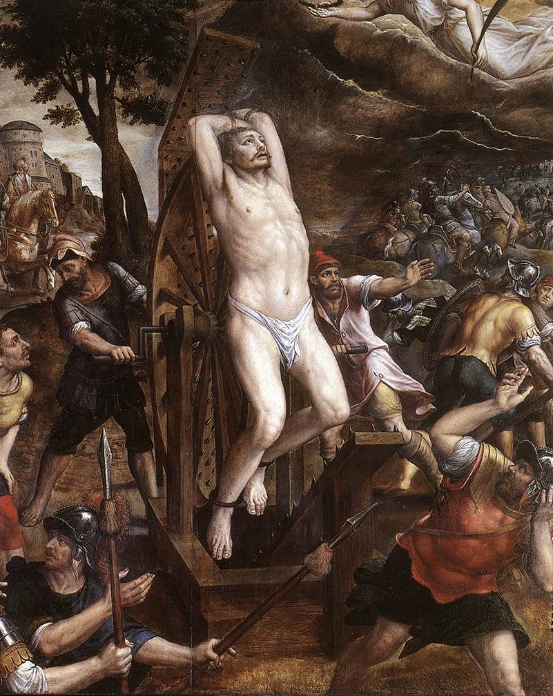 The Torture of St George 1580 | Michiel van Coxcie | oil painting
