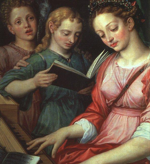 Saint Cecilia 1569 | Michiel van Coxcie | oil painting