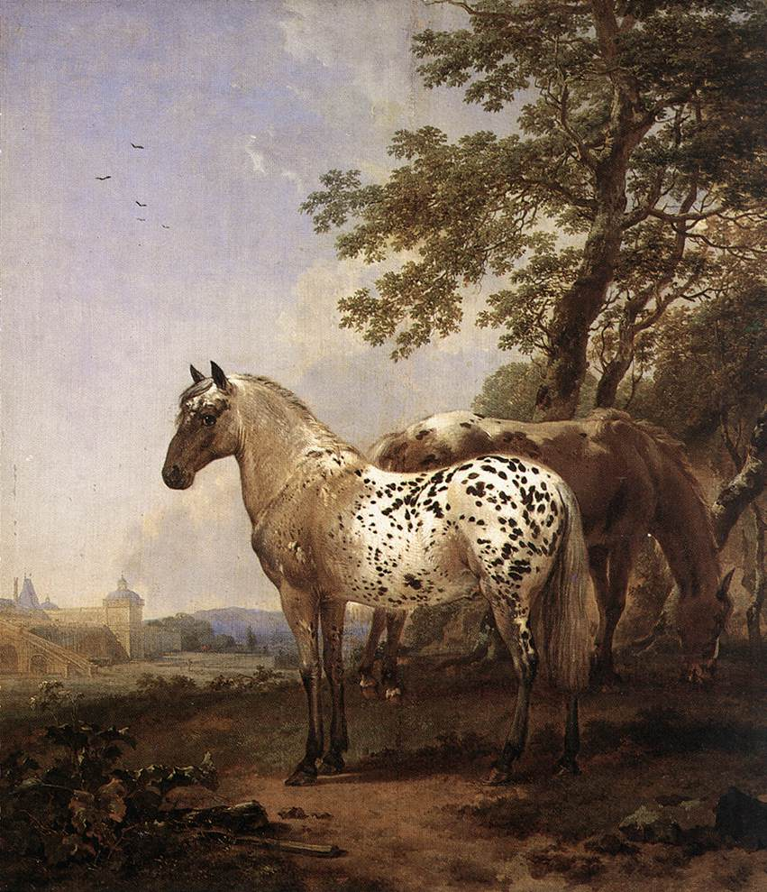 Landscape with Two Horses | Nicolaes Berchem | oil painting