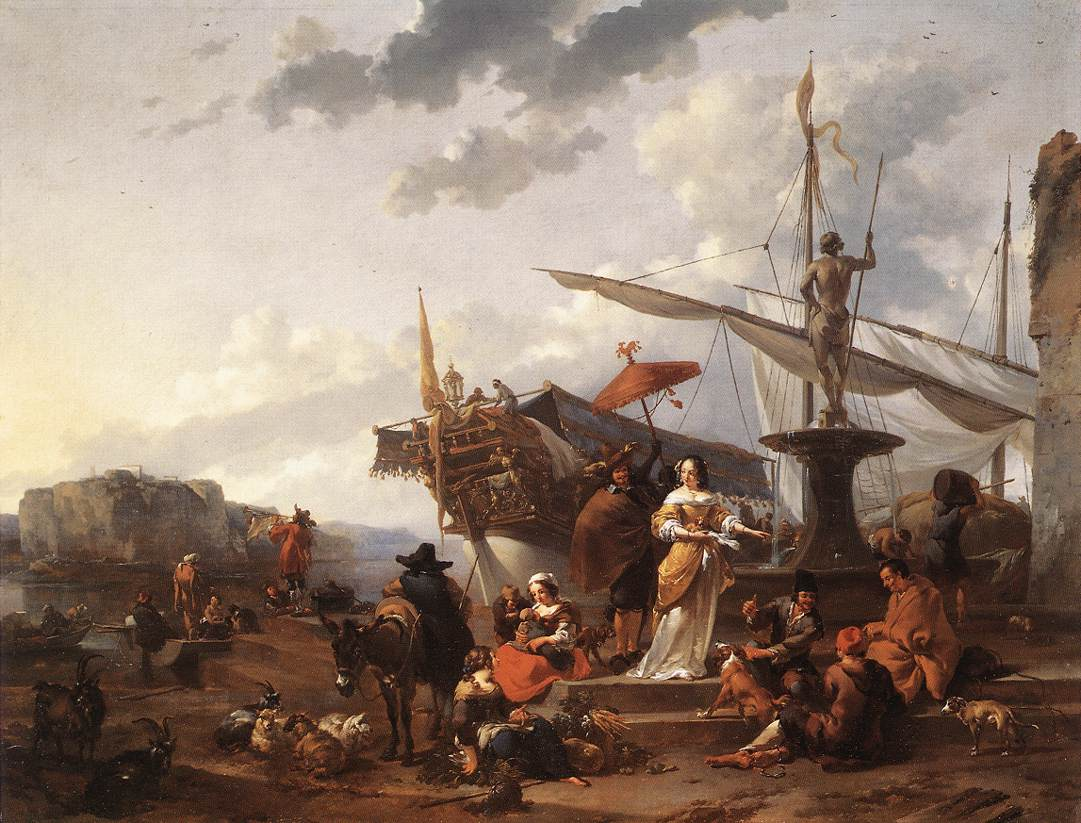 A Southern Harbour Scene 1657 1659 | Nicolaes Berchem | oil painting