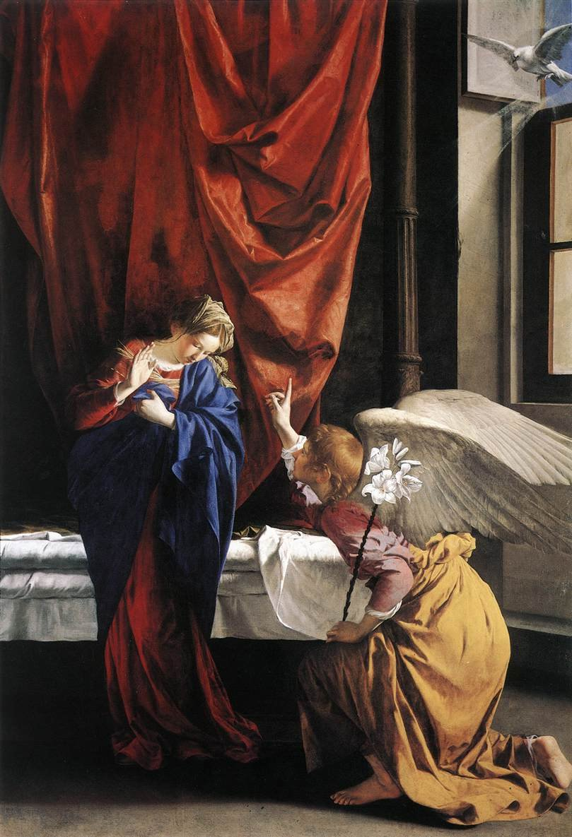 Annunciation 1623 | Orazio Gentleschi | oil painting