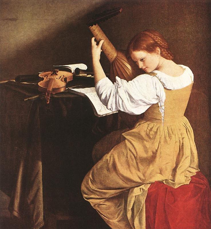 Lute Player 1626 | Orazio Gentleschi | oil painting