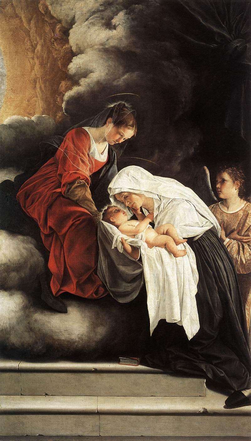 The Vision of St Francesca Romana 1615 1619 | Orazio Gentleschi | oil painting