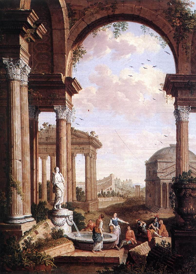 Landscape with Roman Ruins | Paul de Cock | oil painting