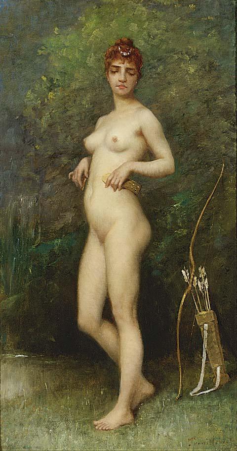 Diana Chasseresse Diana the Huntress | Paul Desire Trouillebert | oil painting