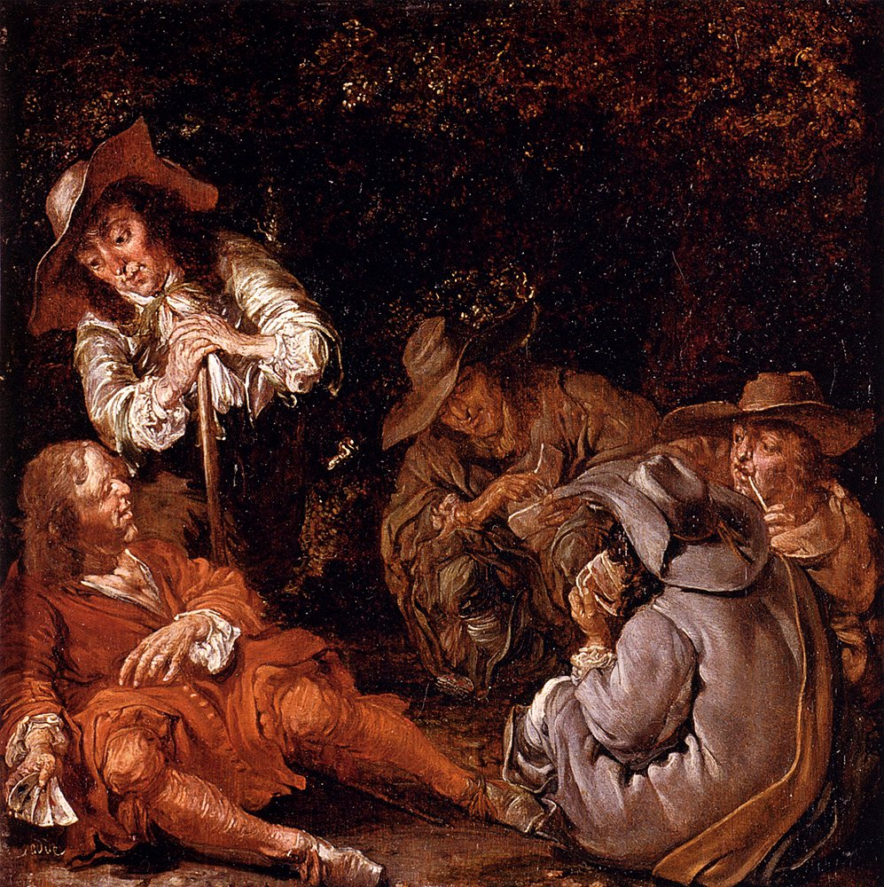Travelers Resting On A Path | Pieter Codde | oil painting