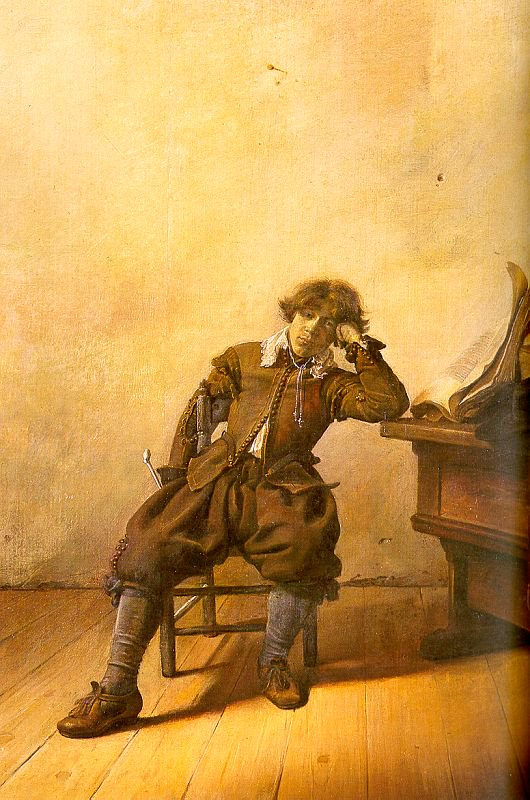Young Scholar in his Study 1630 | Pieter Codde | oil painting