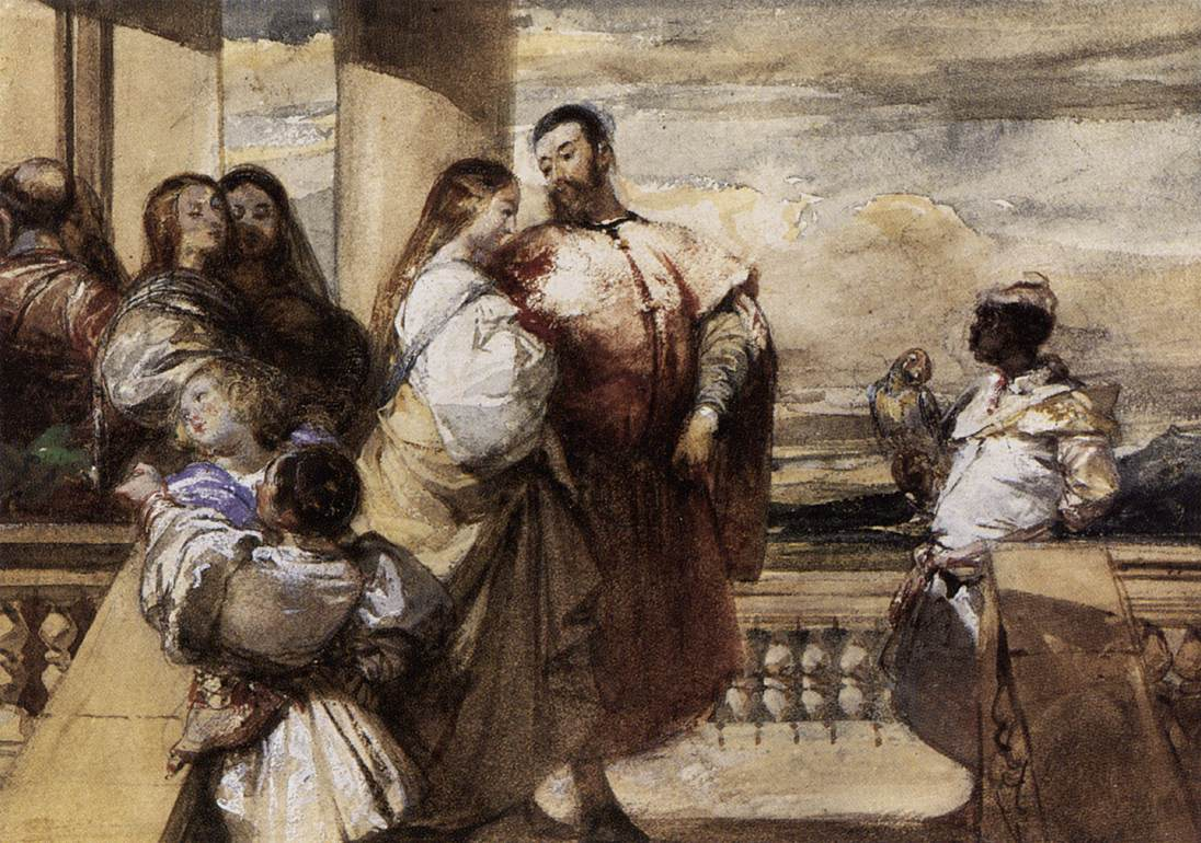 A Venetian Scene 1828 | Richard Parkes Bonington | oil painting