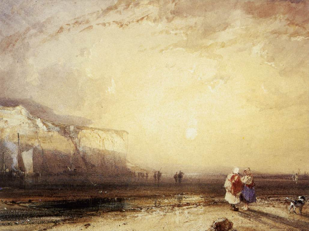 Sunset in the Pays de Caux 1828 | Richard Parkes Bonington | oil painting