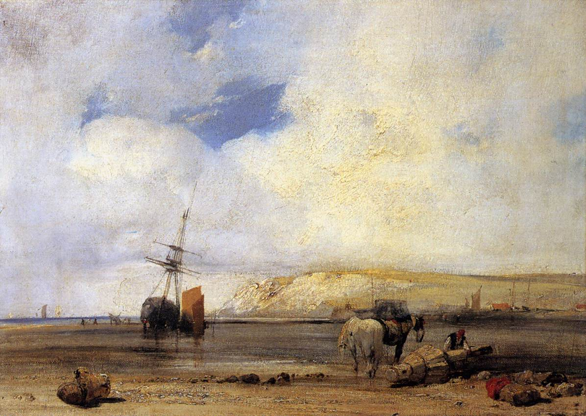 On the Coast of Picardy 1826 | Richard Parkes Bonington | oil painting