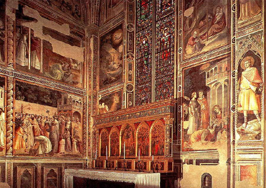 General view of the Baroncelli Chapel 1328 1330 | Taddeo Gaddi | oil painting