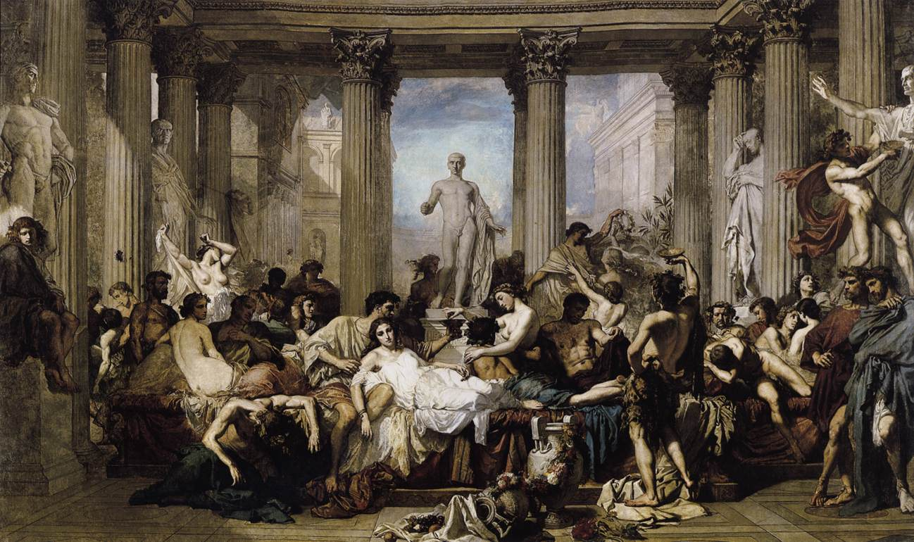 Romans of the Decadence 1847 | Thomas Couture | oil painting