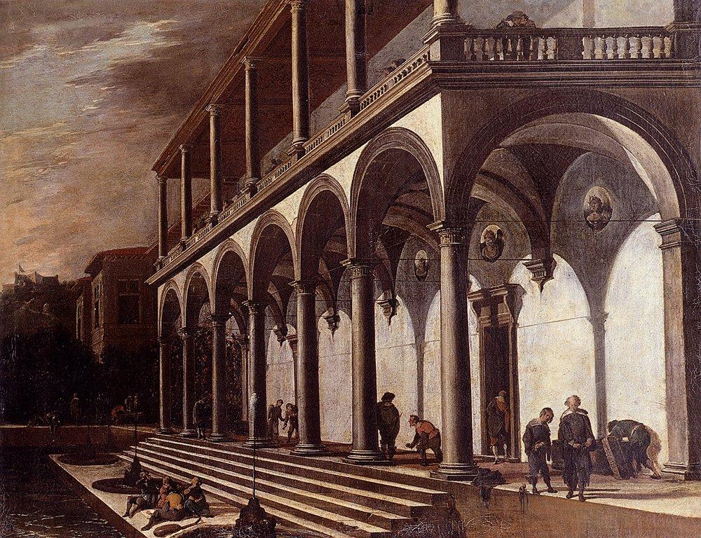 View Of The Villa Poggioreale Naples   Viviano Codazzi   oil painting