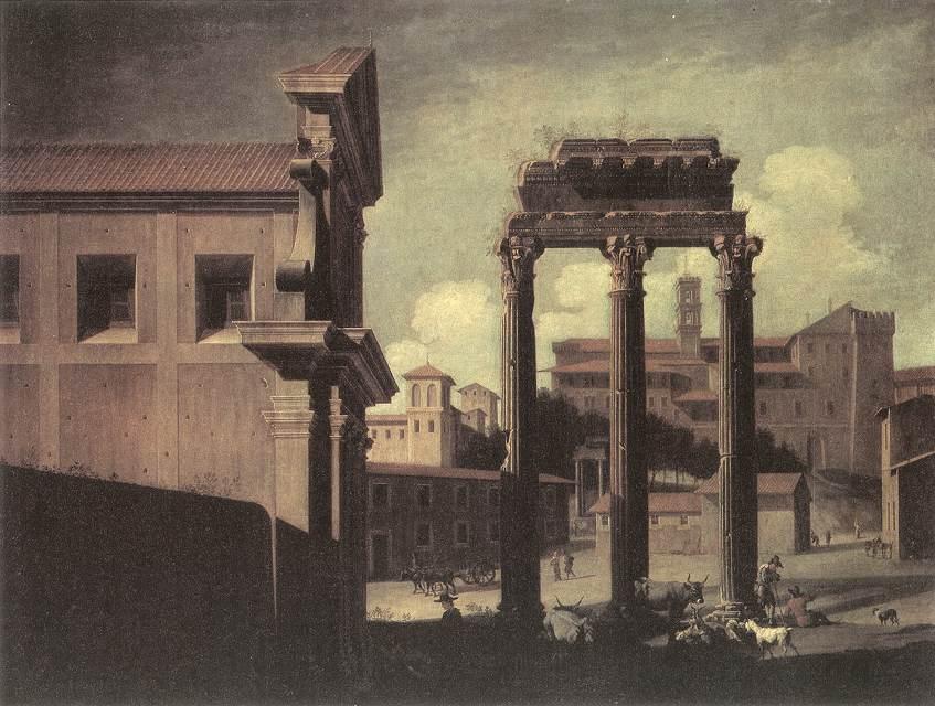 Rome Campo Vaccino Looking toward the Capitoline 1630   Viviano Codazzi   oil painting