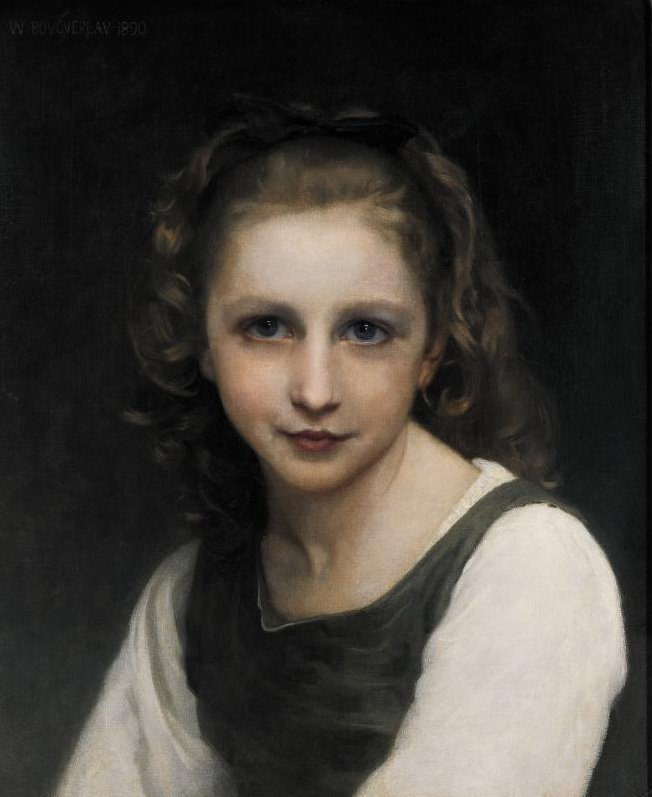 Portrait of a Young Girl | William Bouguereau | oil painting