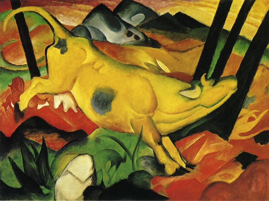 The Yellow Cow 1911 | Franz Marc | oil painting