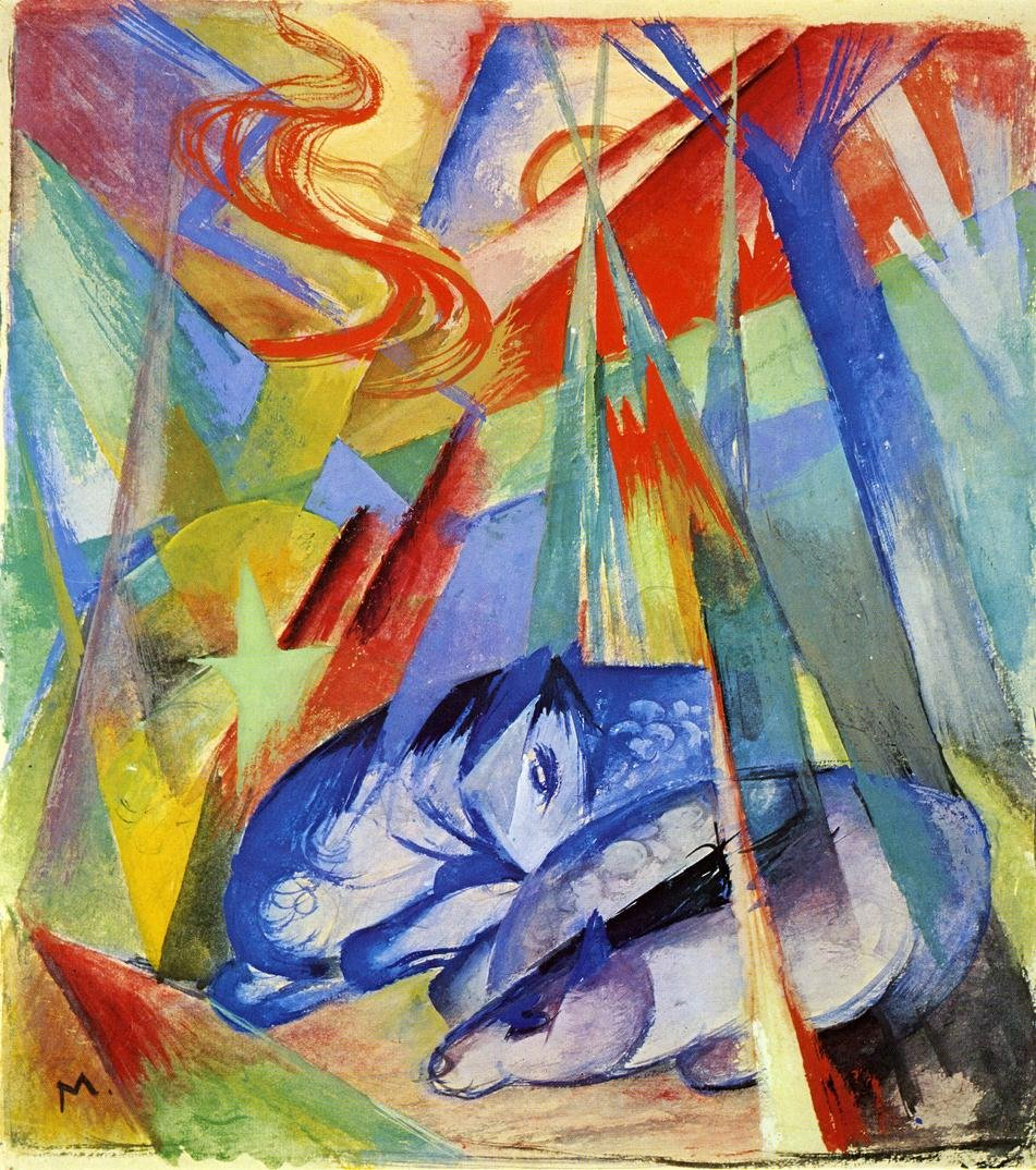 Sleeping Animals 1913 | Franz Marc | oil painting