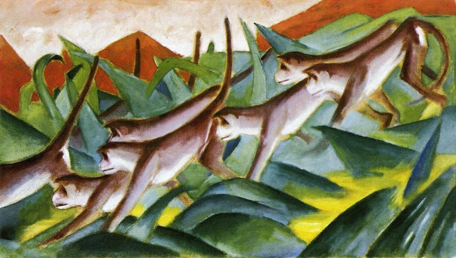 Monkey Frieze 1911 | Franz Marc | oil painting