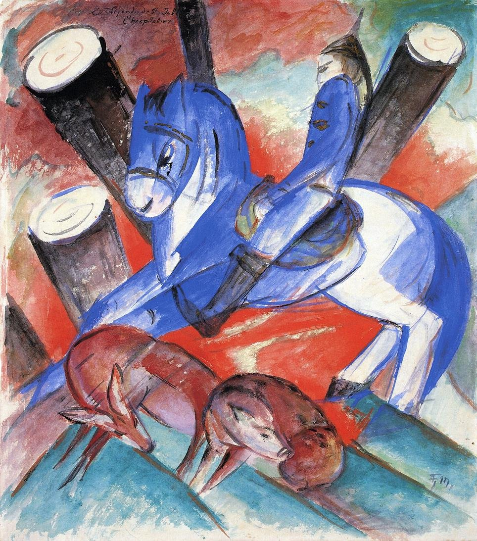 Saint Julian l'Hospitalier 1913 | Franz Marc | oil painting