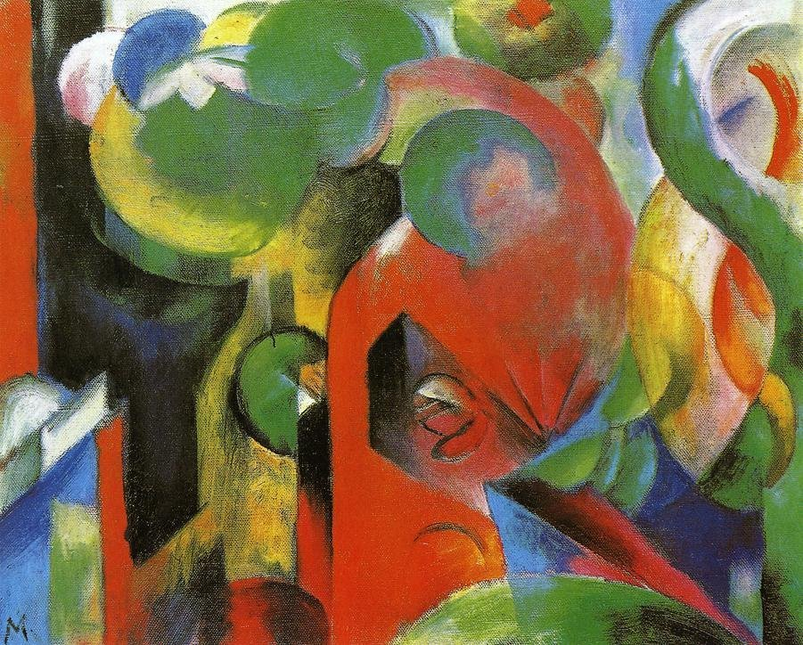 Small Composition III 1913 1914 | Franz Marc | oil painting