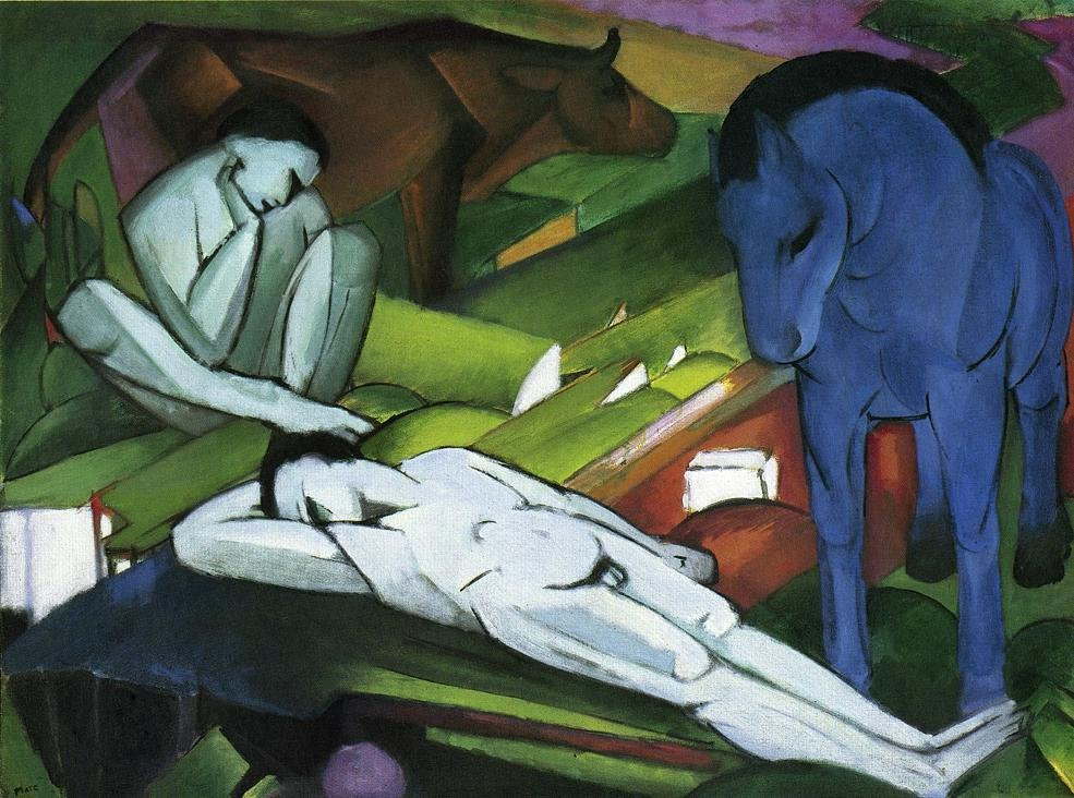 Shepherds 1911 1912 | Franz Marc | oil painting