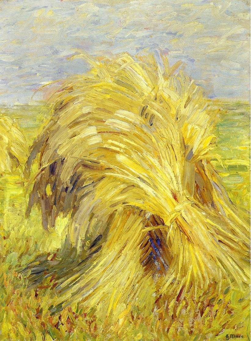 Sheaf of Grain 1907 | Franz Marc | oil painting