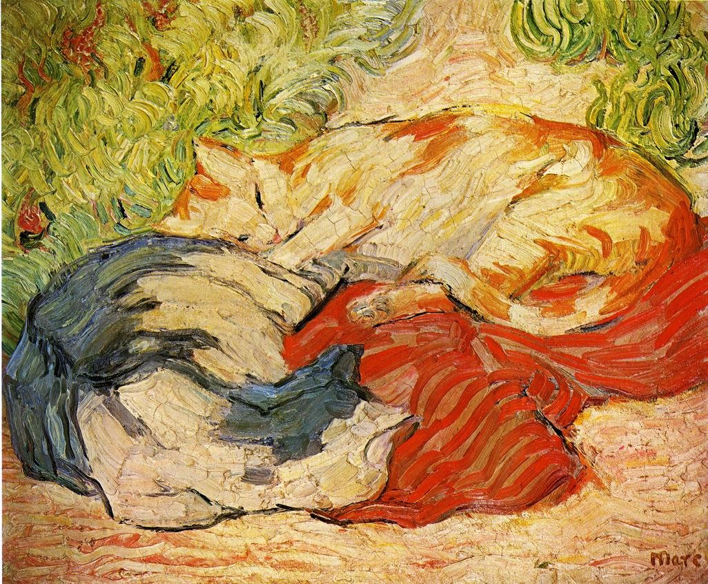 Cats 1909 1910 | Franz Marc | oil painting