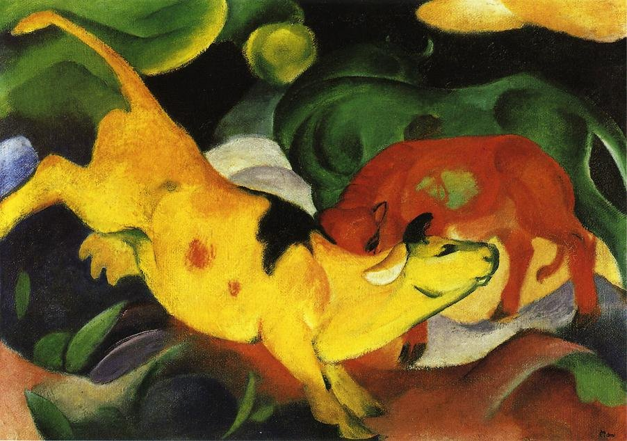 Cows Yellow Red Green 1912 | Franz Marc | oil painting
