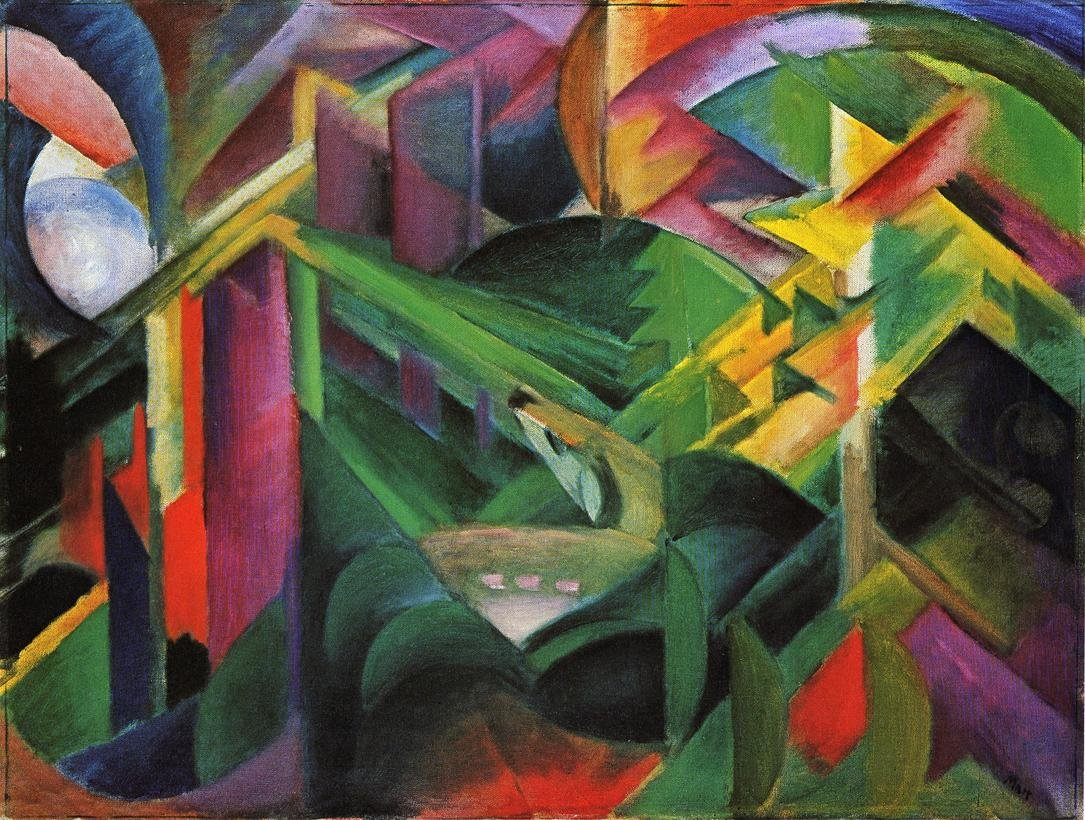 Deer in a Monastery Garden 1912 | Franz Marc | oil painting