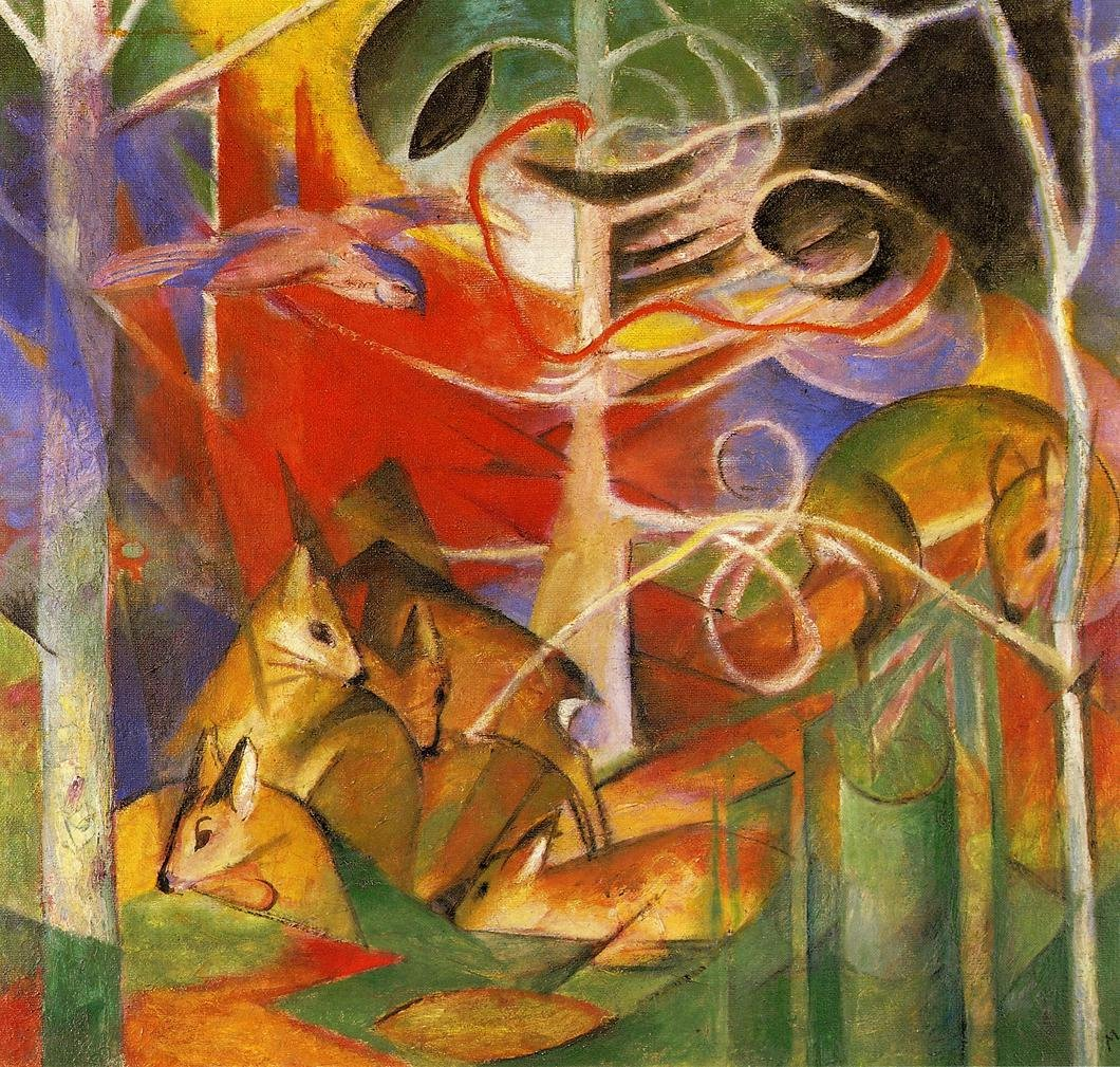 Deer in the Forest 1913 | Franz Marc | oil painting