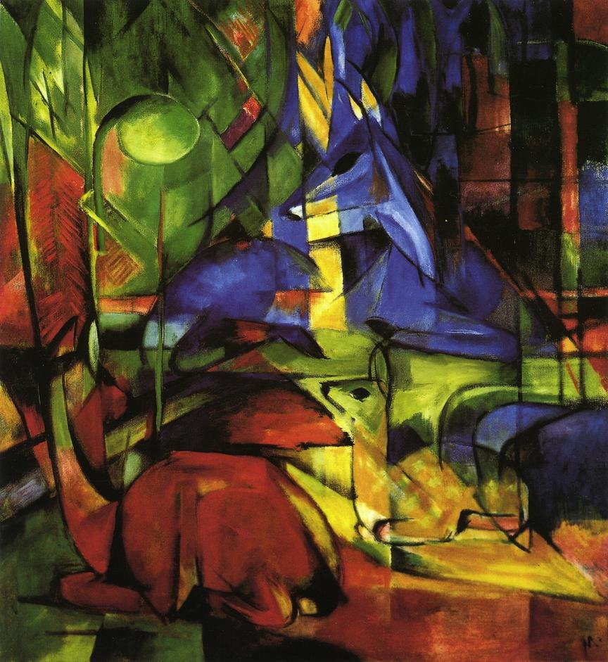 Deer in the Forest II 1914 | Franz Marc | oil painting