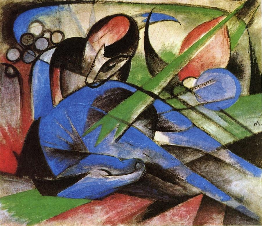 Dreaming Horses 1913 | Franz Marc | oil painting