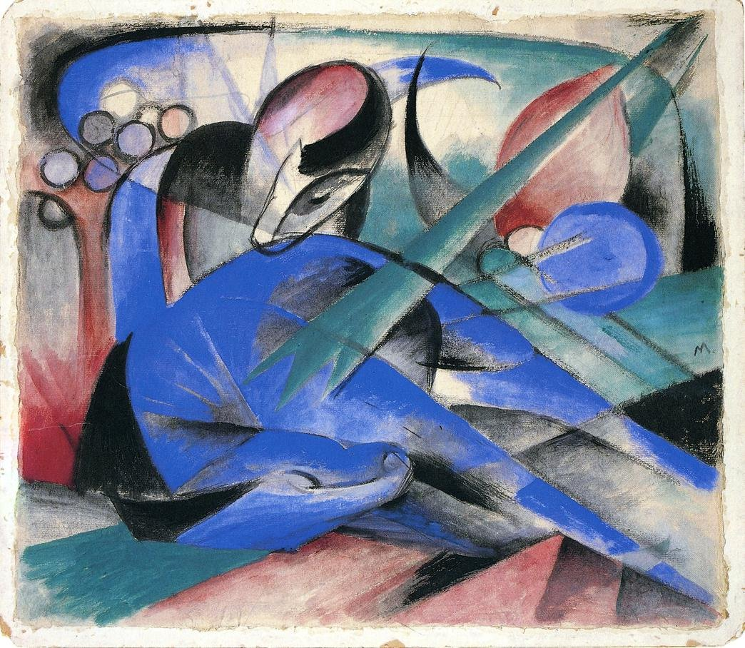 Horse Asleep 1913 | Franz Marc | oil painting