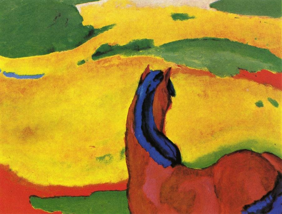 Horse in a Landscape 1910 | Franz Marc | oil painting