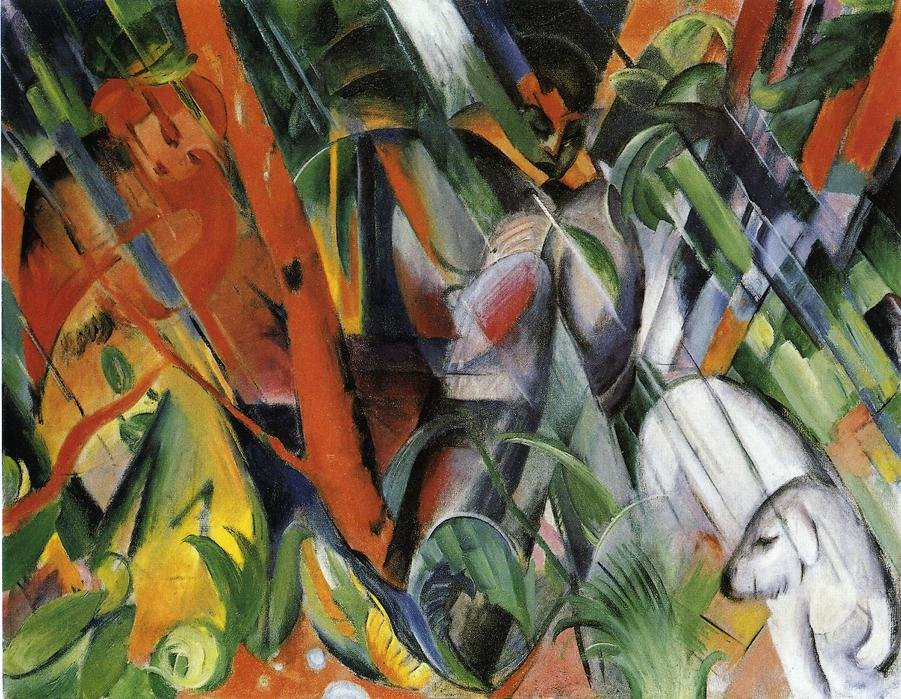 In the Rain 1912 | Franz Marc | oil painting