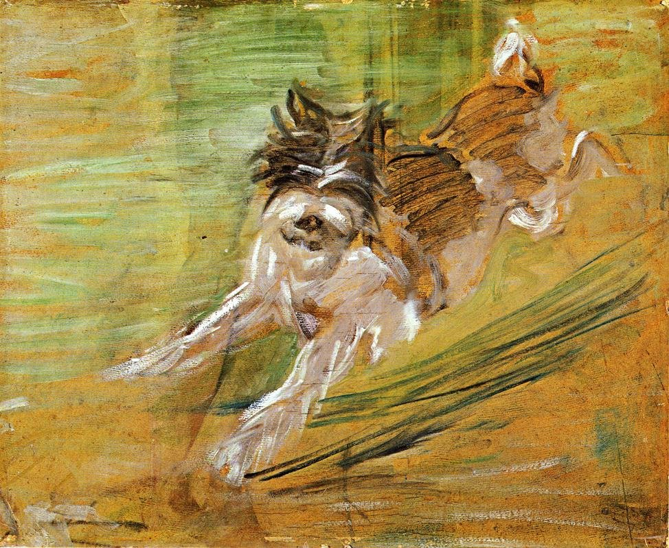 Jumping Dog Schlick 1908 | Franz Marc | oil painting