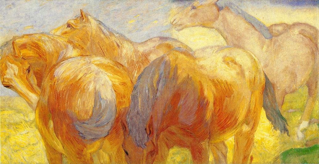 Large Lenggries Horse Painting 1908 | Franz Marc | oil painting