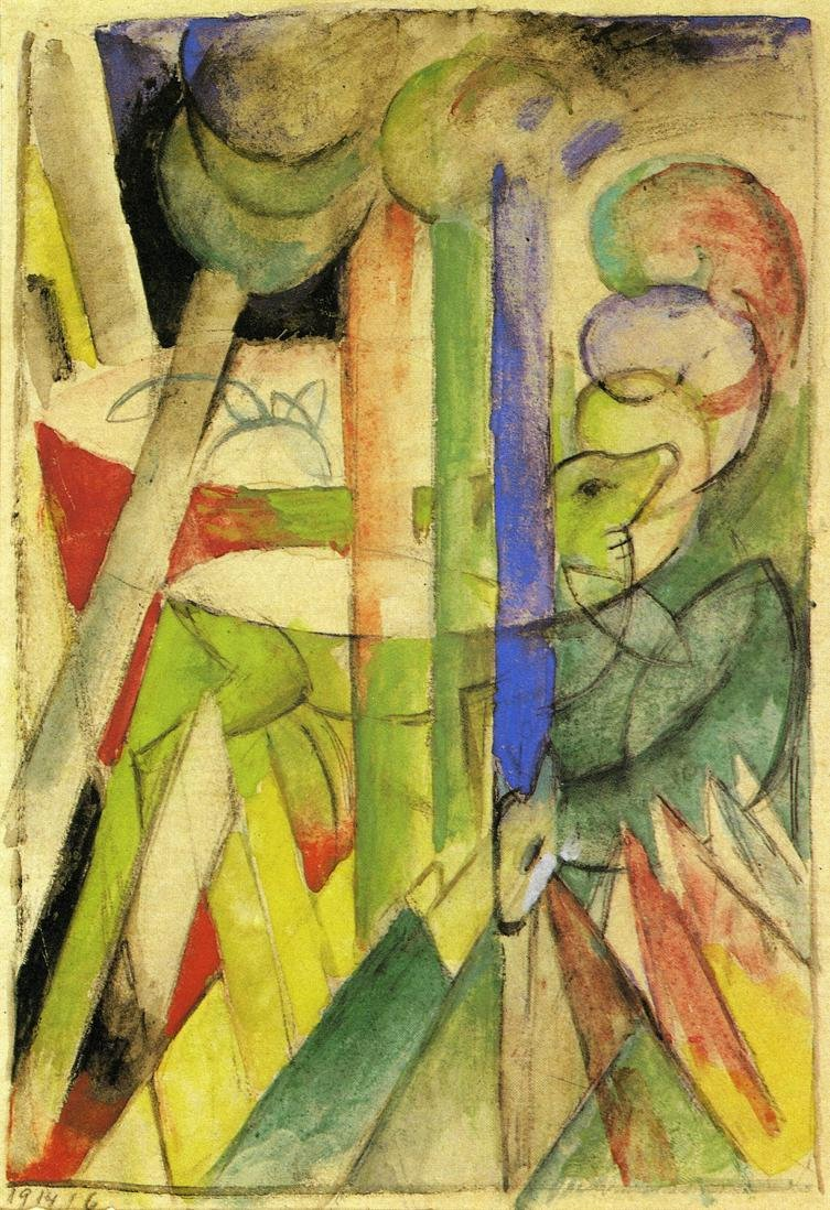 Mountain Goats 1914 | Franz Marc | oil painting