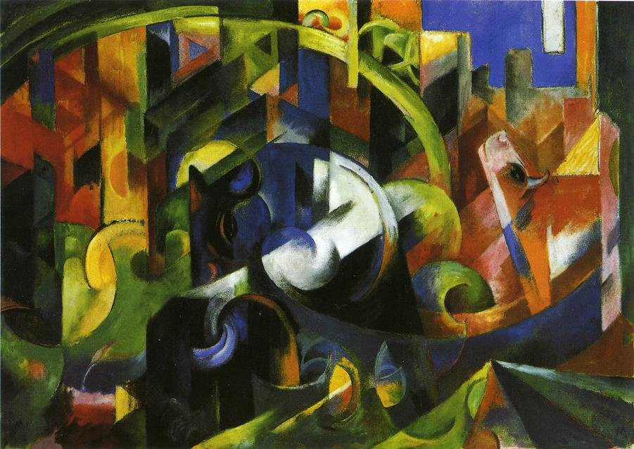 Picture with Cattle 1913 | Franz Marc | oil painting