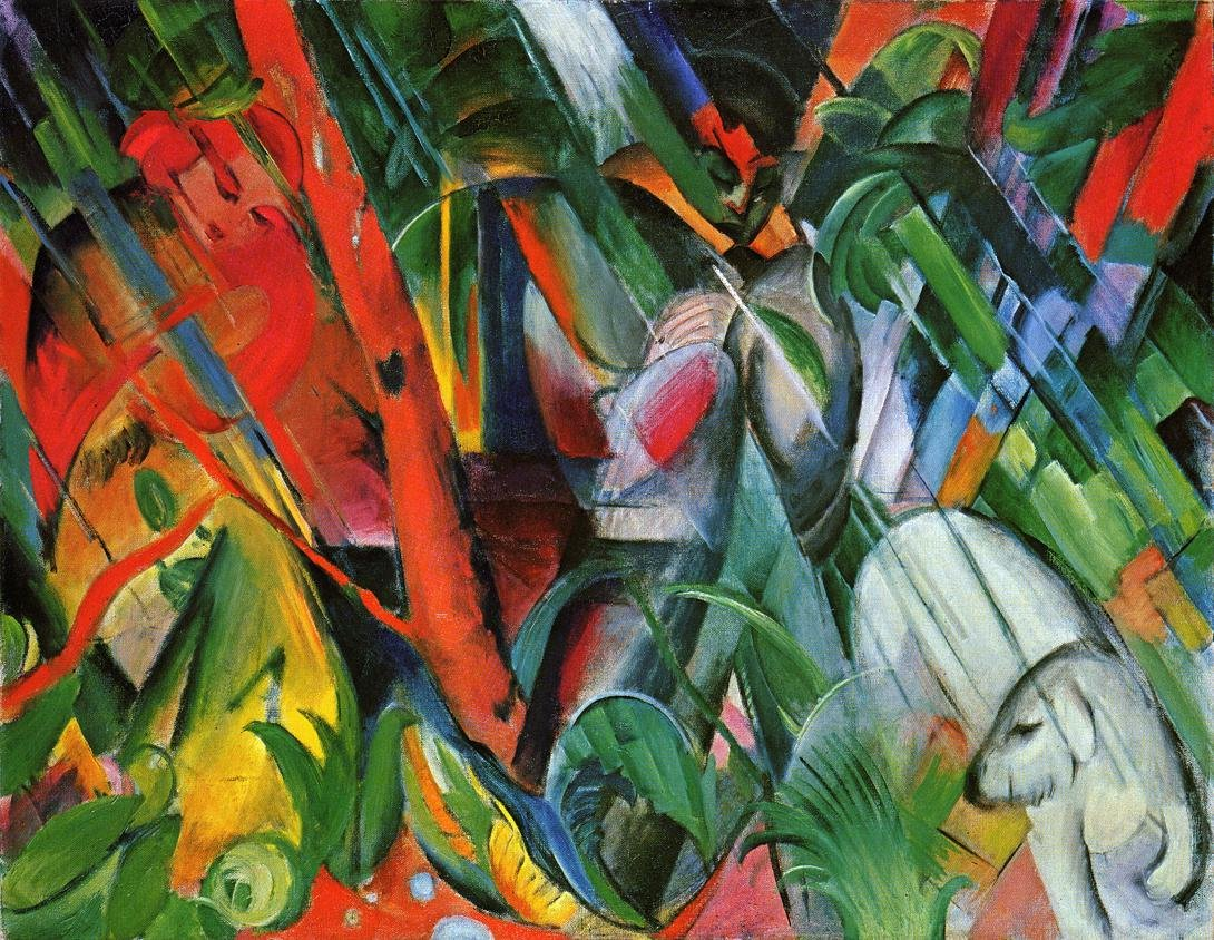 Rain 1912 | Franz Marc | oil painting