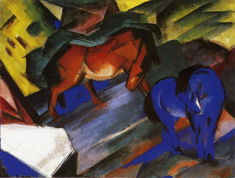 Red and Blue Horse 1912 | Franz Marc | oil painting
