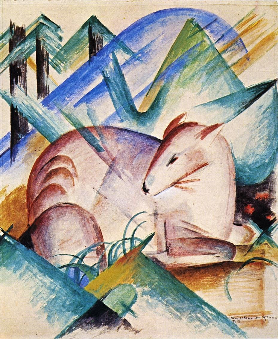 Red Deer 1913 | Franz Marc | oil painting